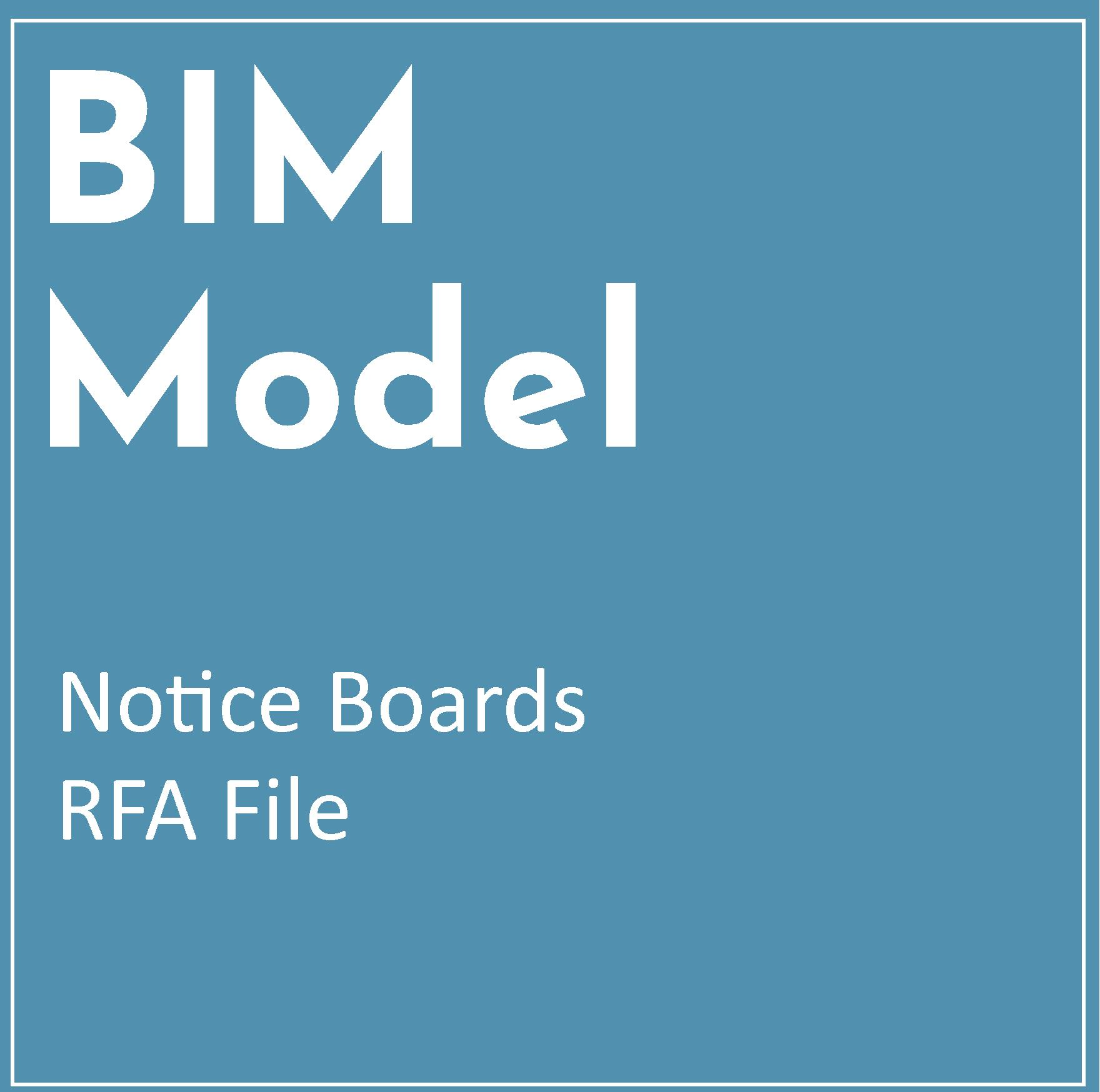 RFA BIM Model – Notice Boards