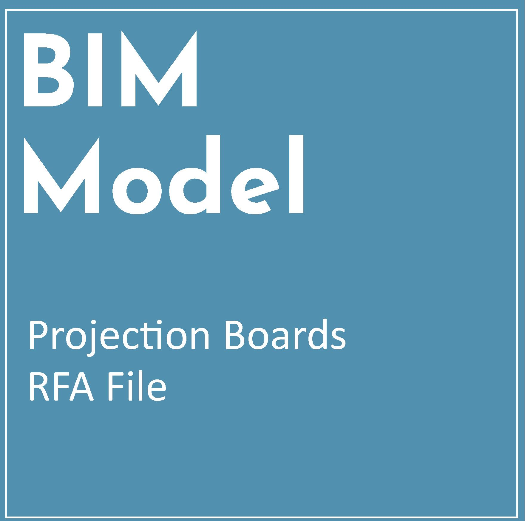 RFA BIM Model – Projection Boards