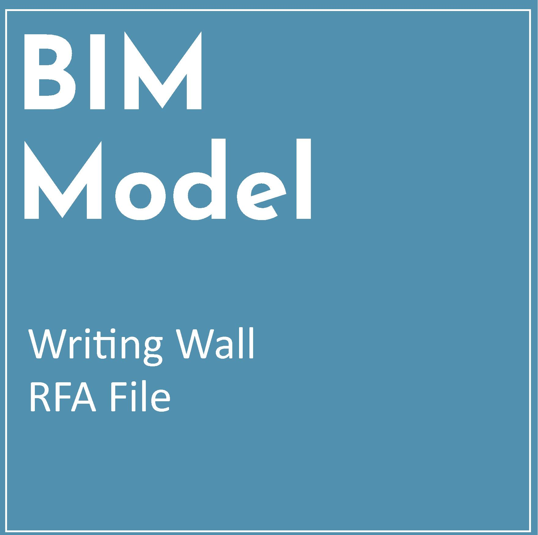 RFA BIM Model – Writing Wall