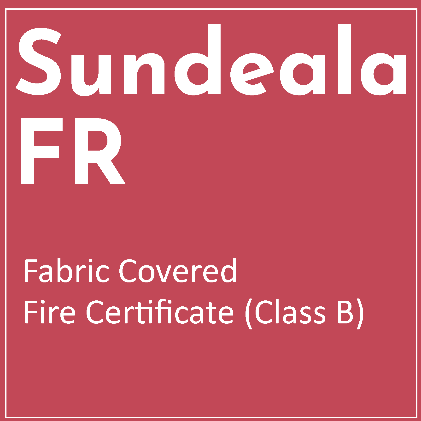 Fire Information for Sundeala FR Fabric Covered Boards