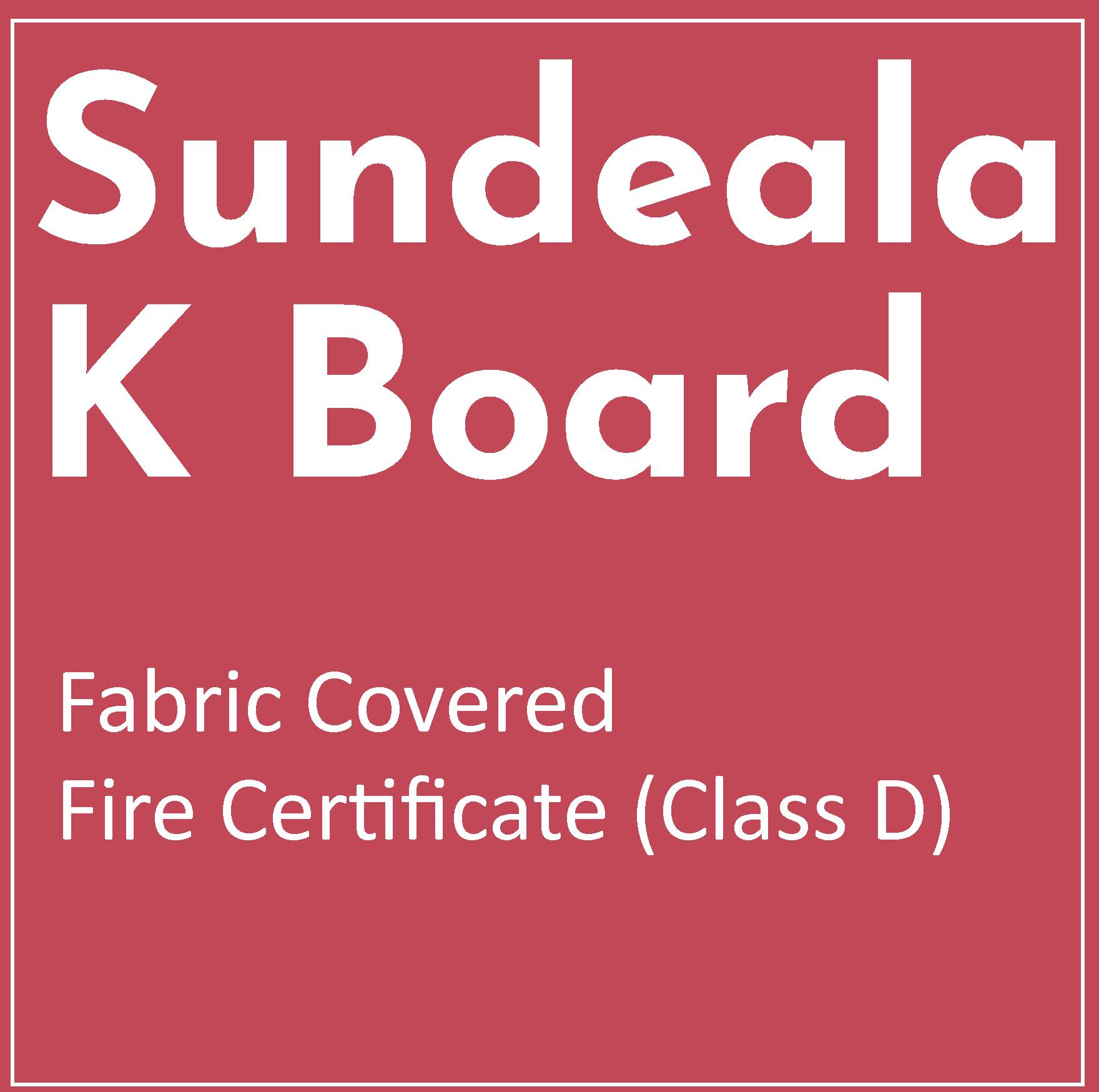 Fire Information for Sundeala K Fabric Covered Boards