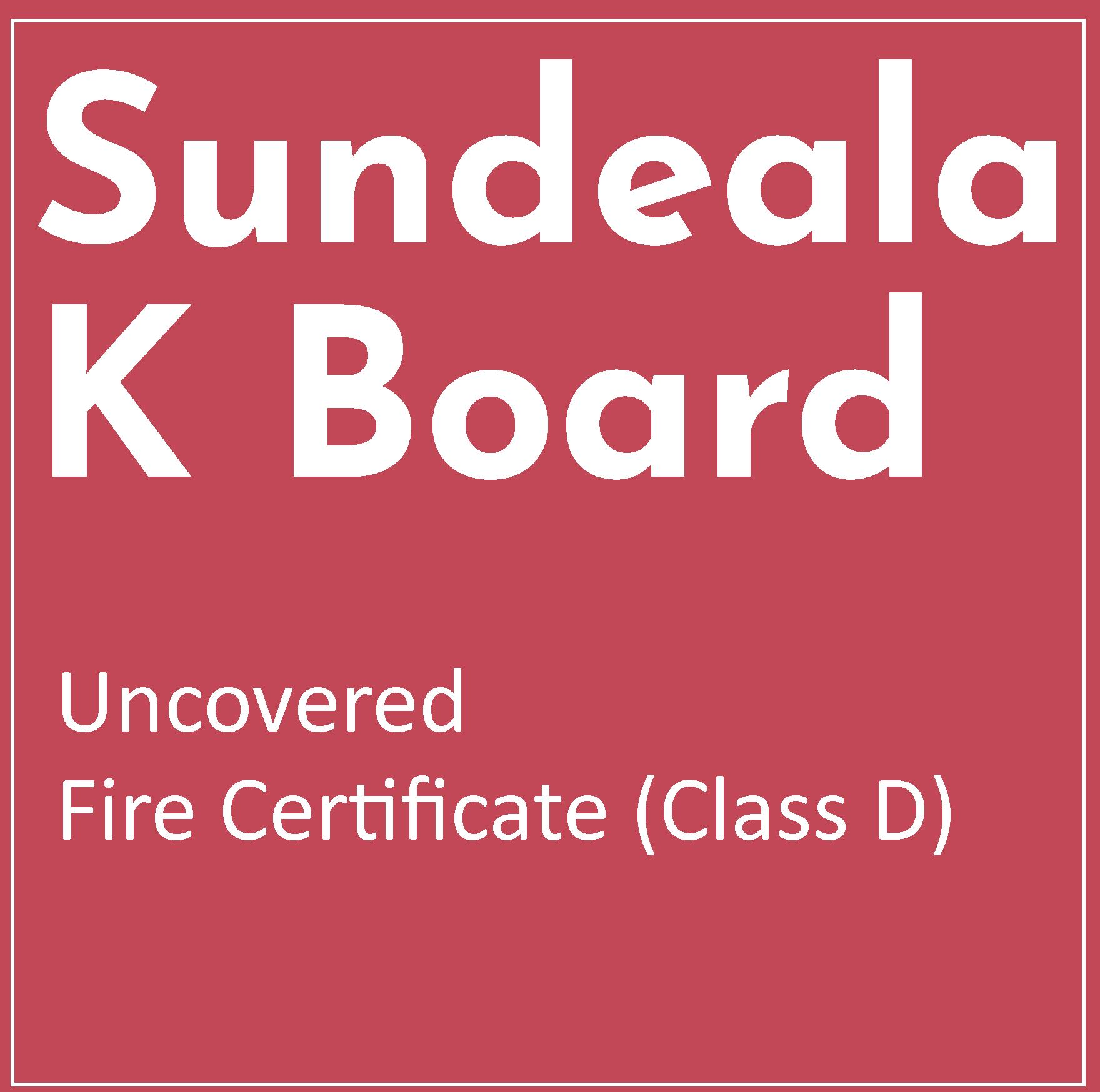 Fire Information for Sundeala K Uncovered Boards